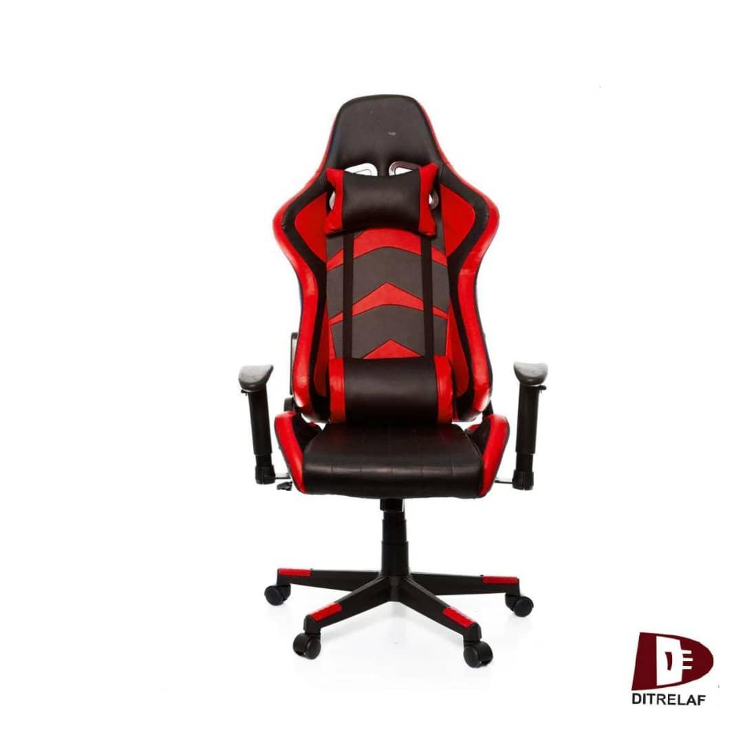 Cadeira Gamer Prizi Reclinável vermelha