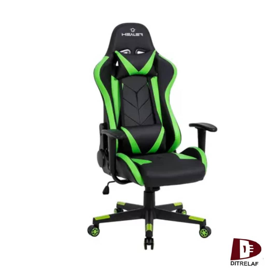 Cadeira Gamer Reclinável Strike Healer Verde